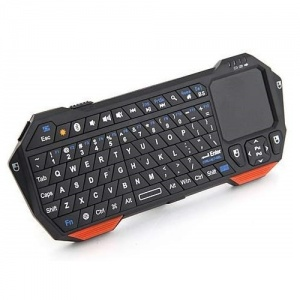 Mini Wireless Bluetooth Keyboard with Built-in Touch Pad