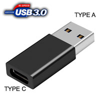 Converter: USB 3.0 A (Male) to USB Type C (Female)...