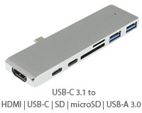 USB 3.1 Type C HUB - Port Extension to USB-C / USB...