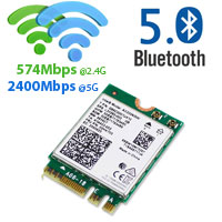 Intel WiFi AX200NGW + Bluetooth V5 M.2 Slot Card, ...