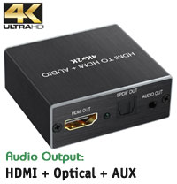 HDMI Audio Extractor - Outputs HDMI / Optical Tosl...