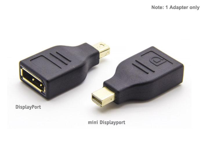 Monitors: Converter: Mini DisplayPort (Male) to DisplayPort