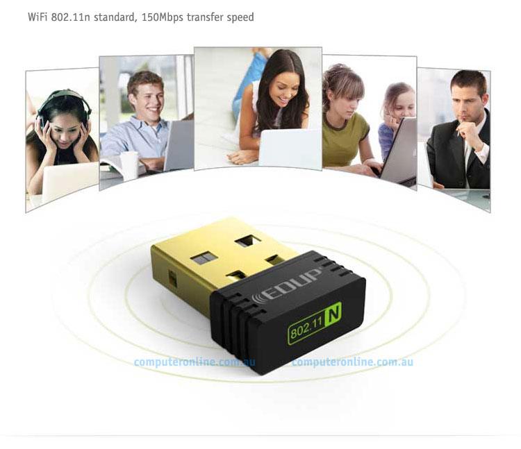 Networking: EDUP mini WiFi N 150Mbps USB Dongle, [EP-N8553], Ralink